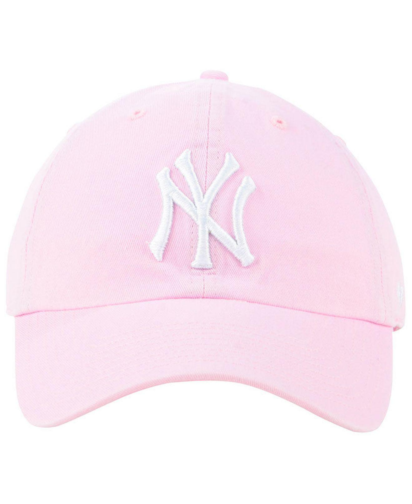 f0aebe18131 Lyst - 47 Brand New York Yankees Pink Clean Up Cap in Pink