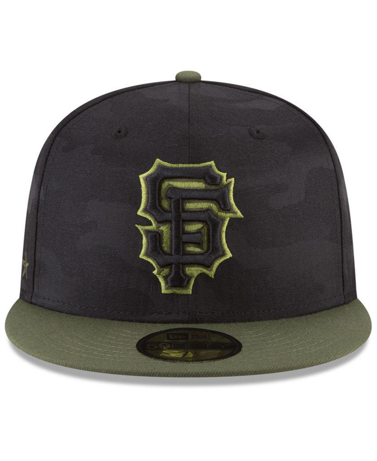 newest b0bf2 eb460 ... cheapest lyst ktz san francisco giants memorial day 59fifty fitted cap  in black for men 83c5d