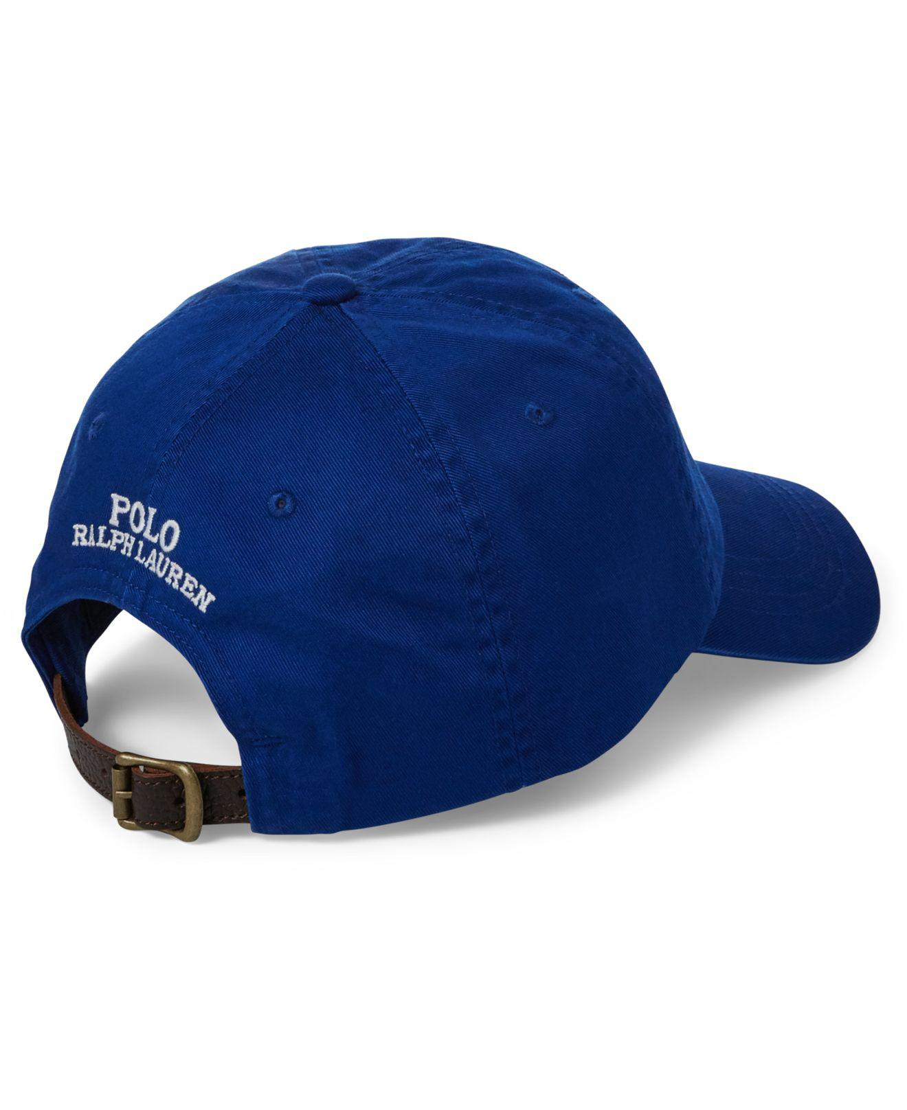 Lyst - Polo Ralph Lauren Polo Bear Baseball Cap in Blue for Men newest  collection c589c ... 7d456de566bf