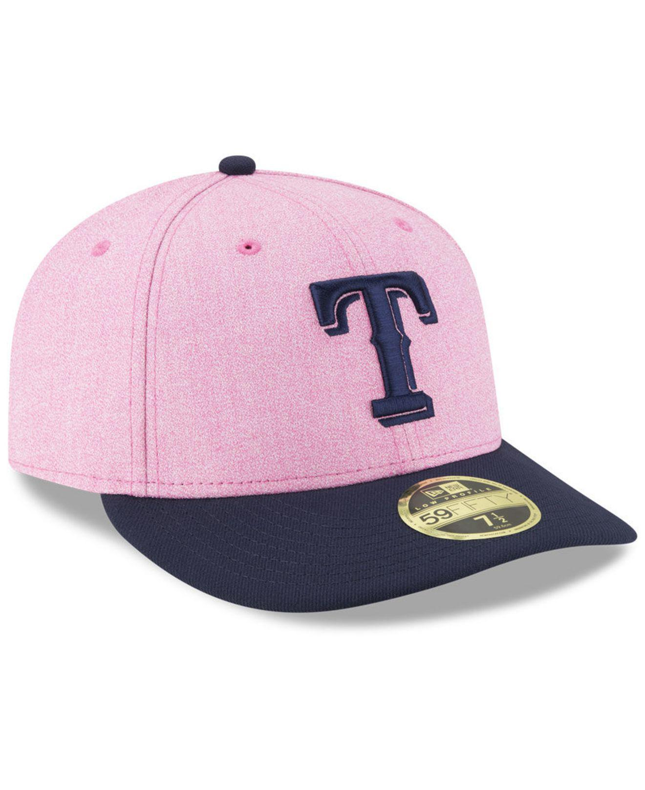 sale retailer ca52b 4bc84 ... new zealand texas rangers mothers day low profile 59fifty fitted cap  lyst. view fullscreen 6eef7