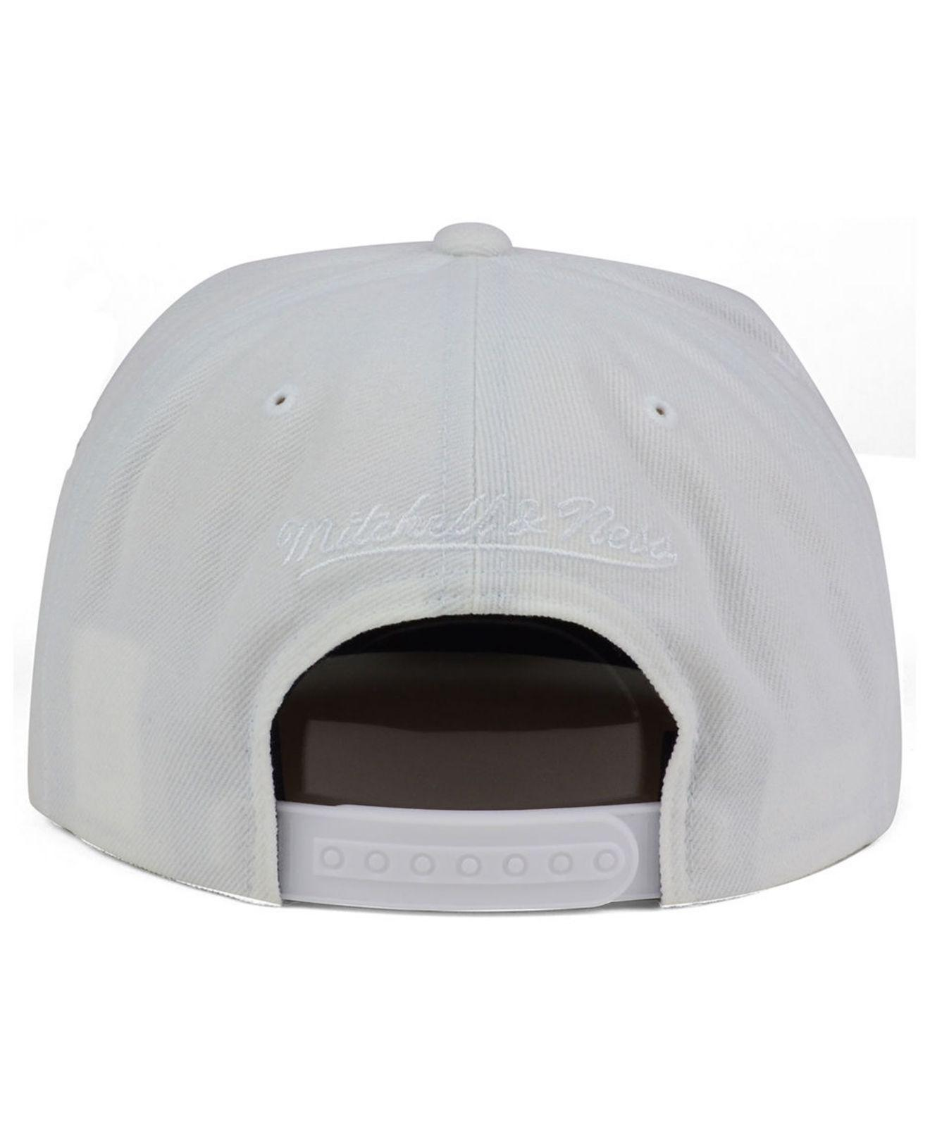 promo code 4ddda f4e52 ... wholesale mitchell ness white atlanta hawks cropped xl logo snapback  cap for men lyst. view