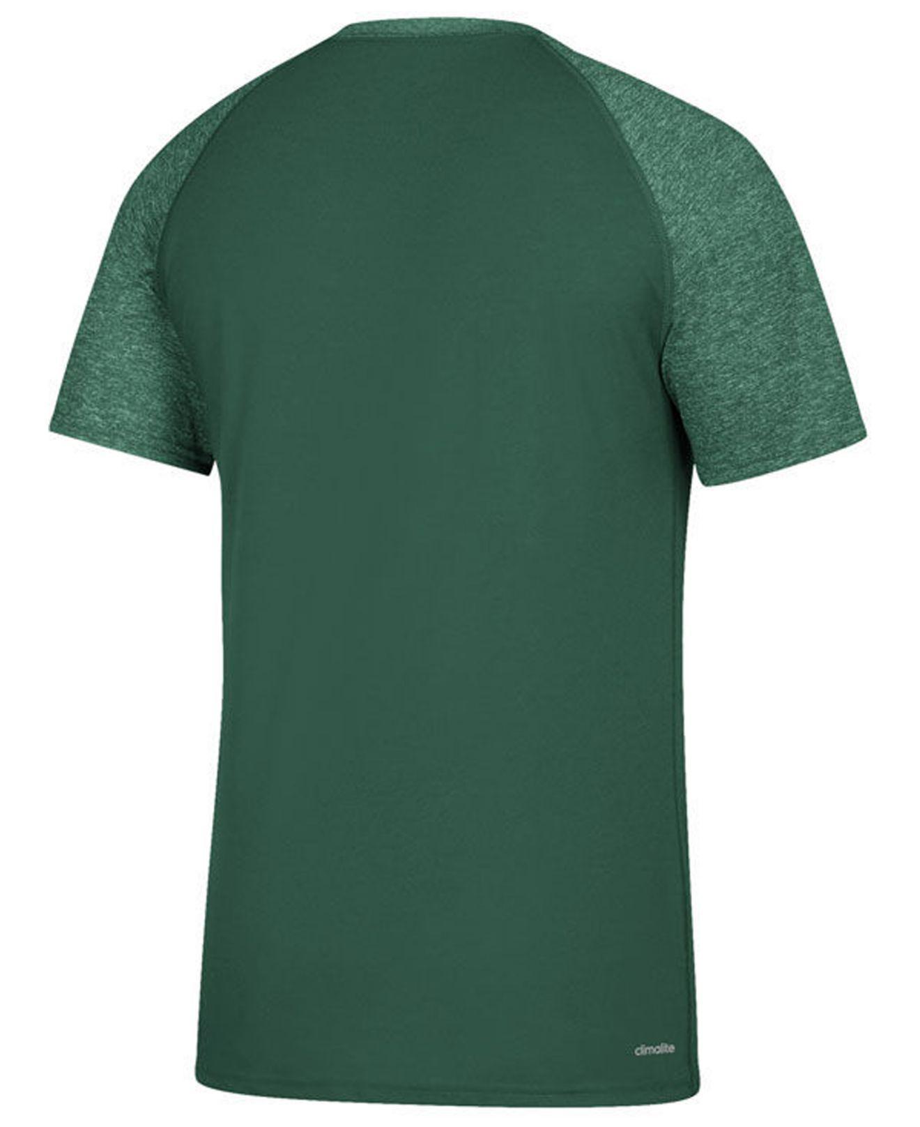 Lyst - adidas Miami Hurricanes Sideline Say It Loud Raglan T-shirt in Green  for Men f22a70dc1