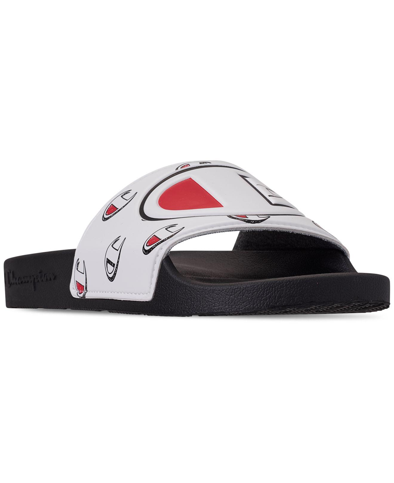 63181acef3db6 Lyst - Champion Ipo Repeat Slide Sandals From Finish Line in Black ...