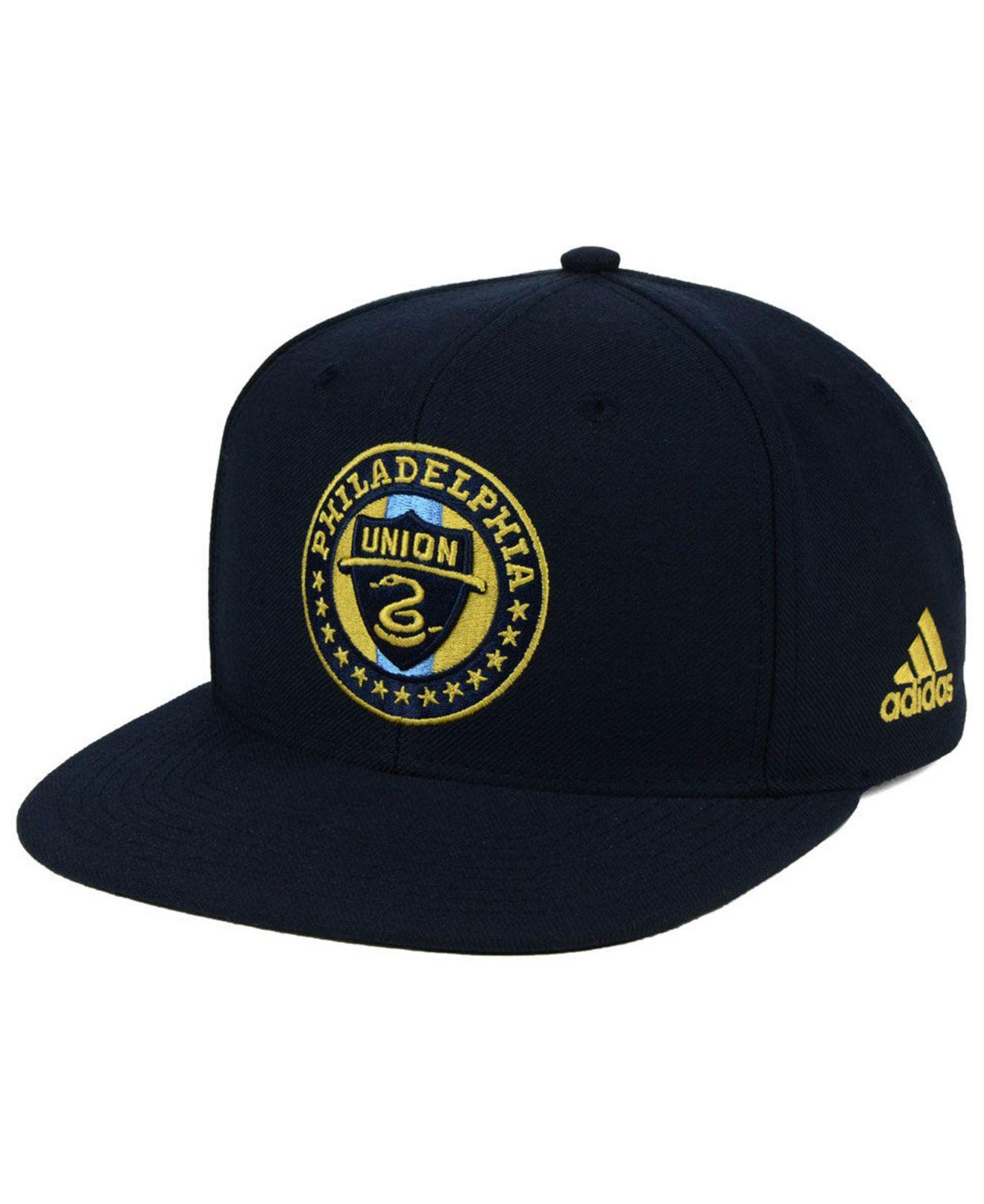 Lyst - Adidas Philadelphia Union Poly Snapback Cap in Blue for Men 798cc92a31f6