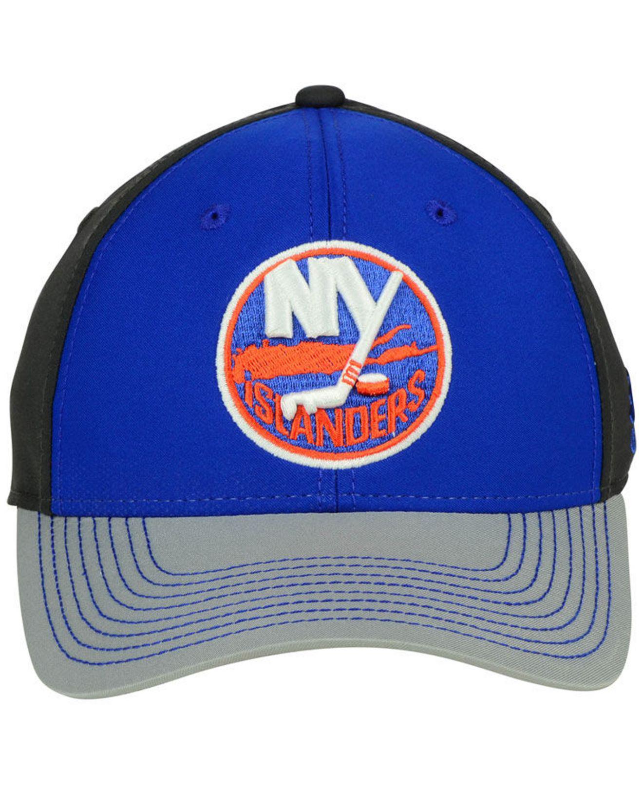 low priced fda9b fc695 ... get lyst adidas new york islanders 2tone stitch flex cap in blue for men  2fb36 61396