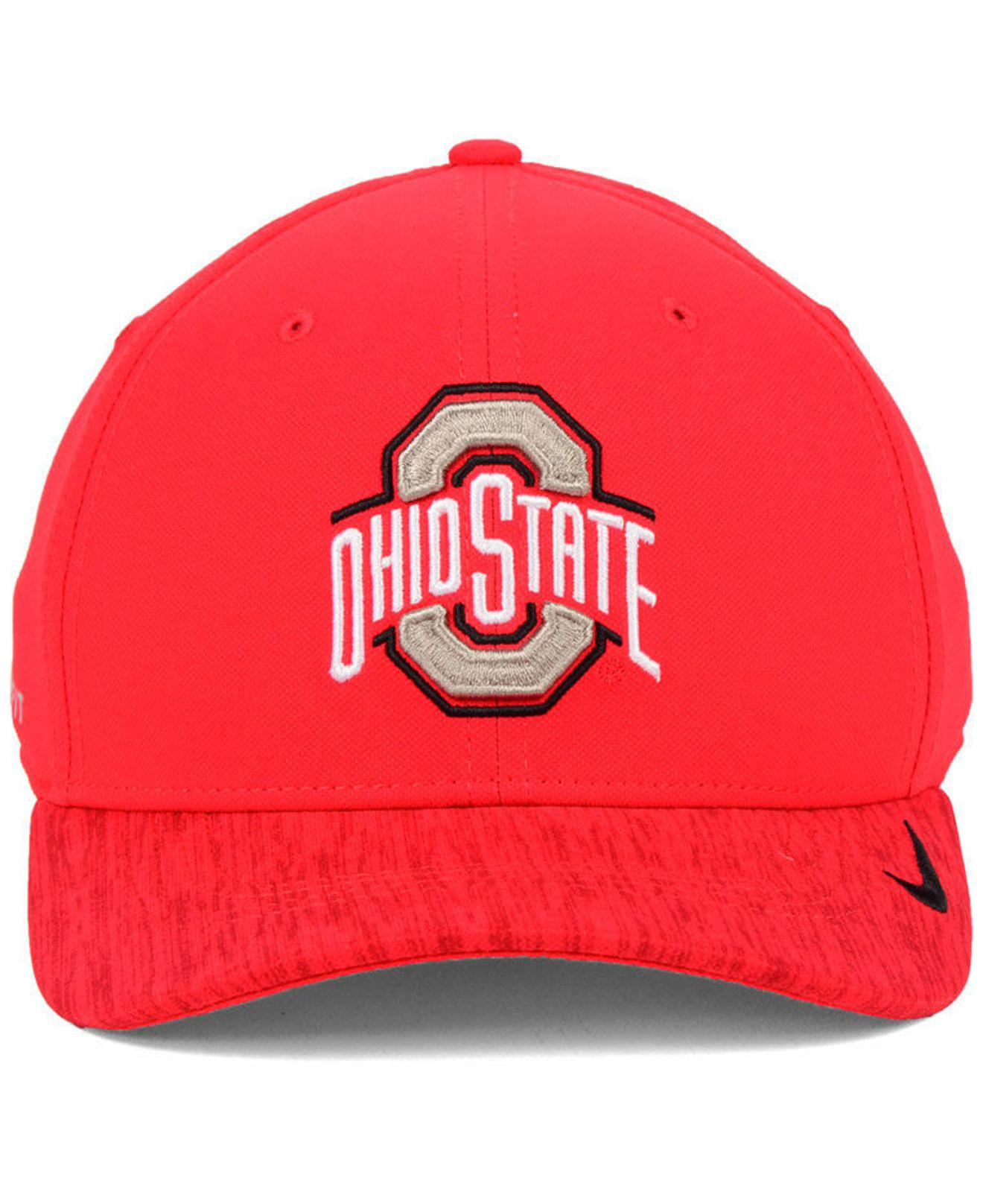 big sale 01f73 08135 ... shopping lyst nike ohio state buckeyes arobill swoosh flex cap in red  for men 9d2d7 06e63
