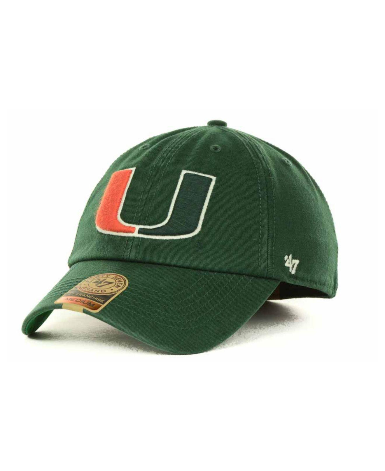 finest selection 2f903 d392a ... release date miami hurricanes 47 ncaa 47 clean up cap lyst 47 brand  miami hurricanes franchise ...