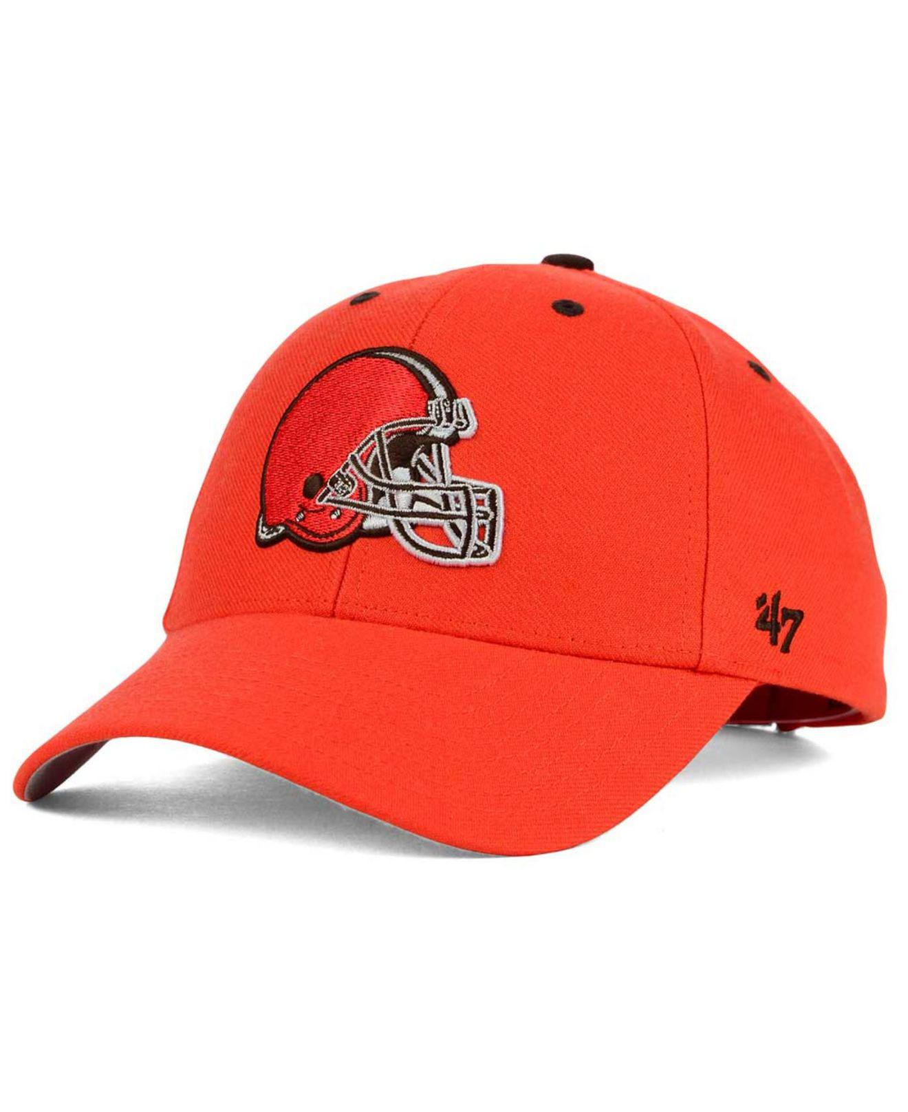 best service 44a87 eb767 Lyst - 47 Brand Cleveland Browns Audible Mvp Cap in Orange for Men