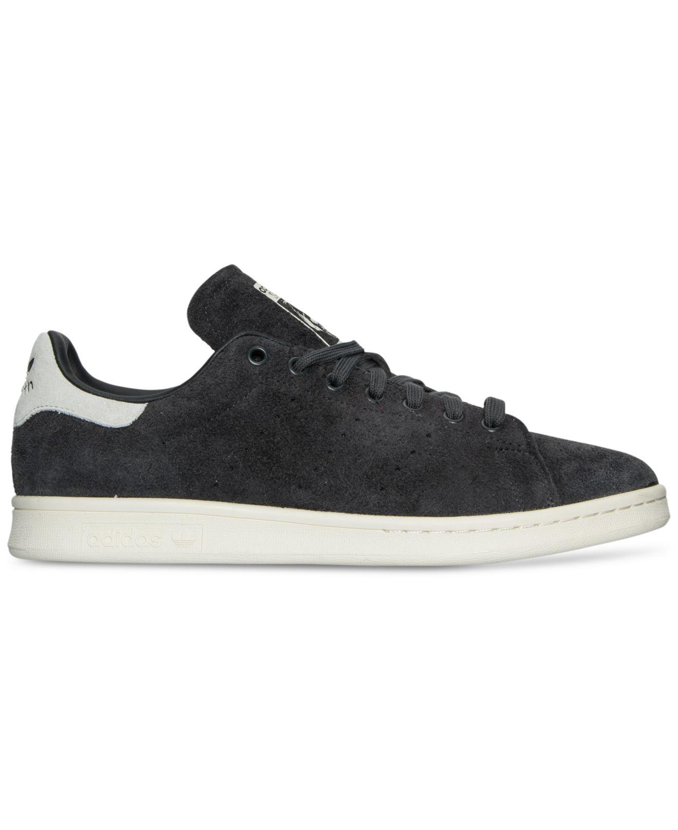 d14b9931f13a5 Lyst - adidas Men s Stan Smith Suede Bounce Casual Sneakers From ...