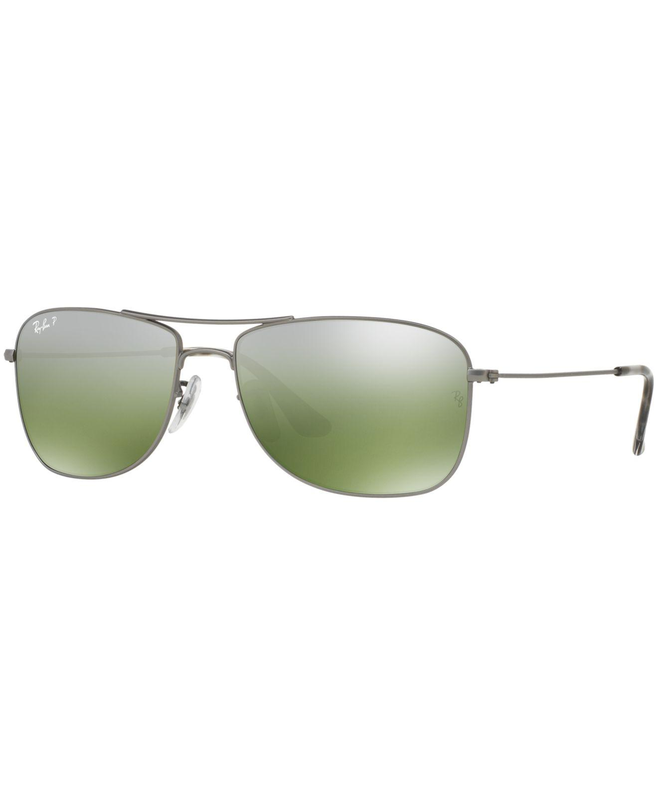 a57c66d827265 ... amazon lyst ray ban sunglasses rb3543 59 chromance collection in  metallic d71a4 79d8d