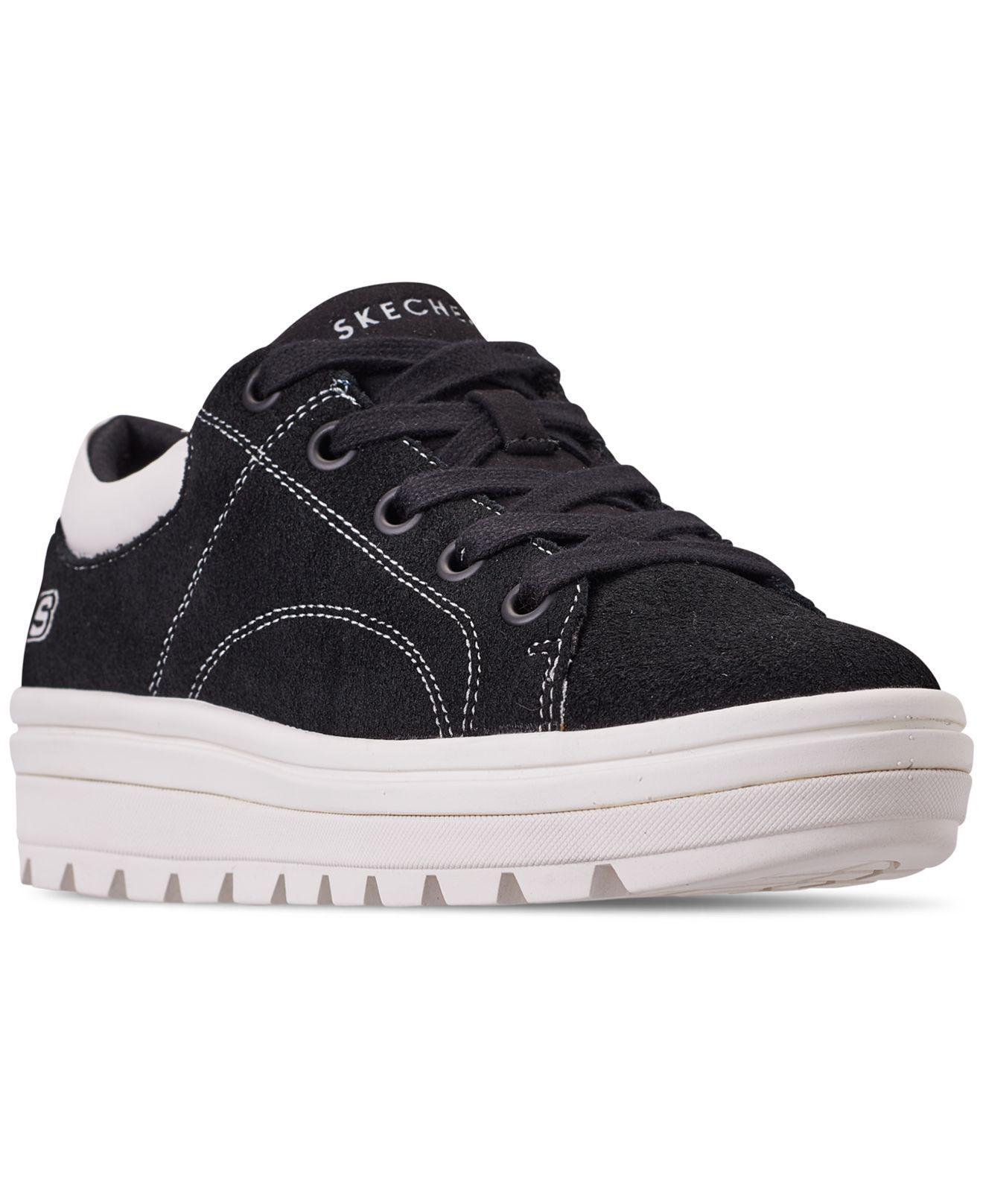 406e7d5b39b Skechers. Women s Black Street Cleat - Back Again Casual Sneakers ...