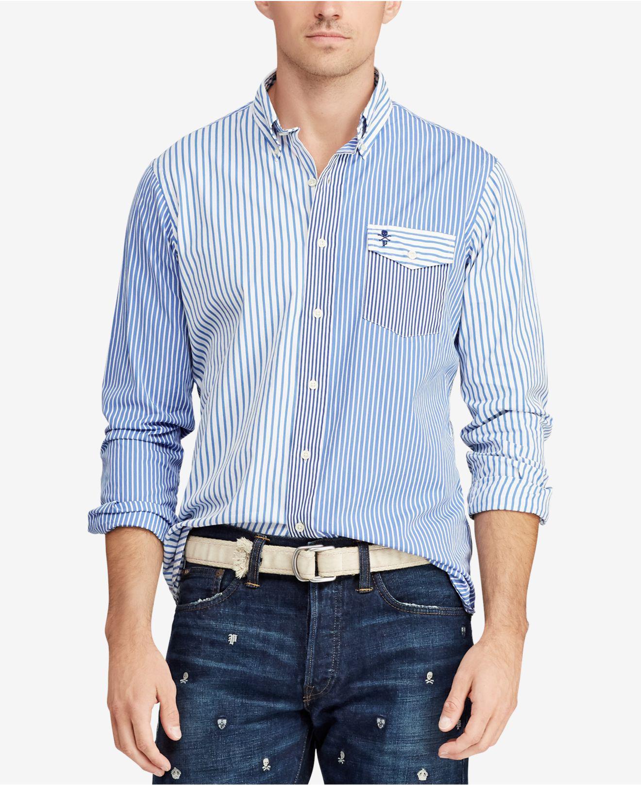 f777c3e7665 Lyst - Polo Ralph Lauren Classic Fit Poplin Shirt in Blue for Men