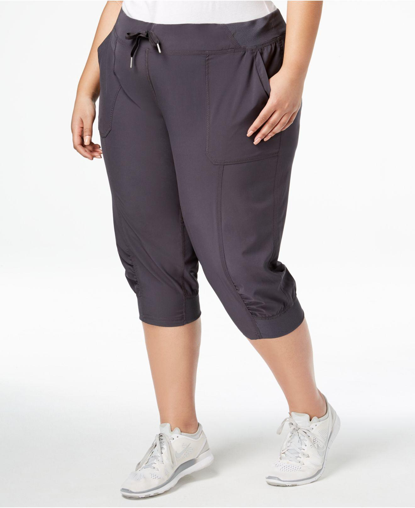 0e9c5447c3 Calvin Klein Performance Plus Size Seamed Cuffed Joggers in Gray ...