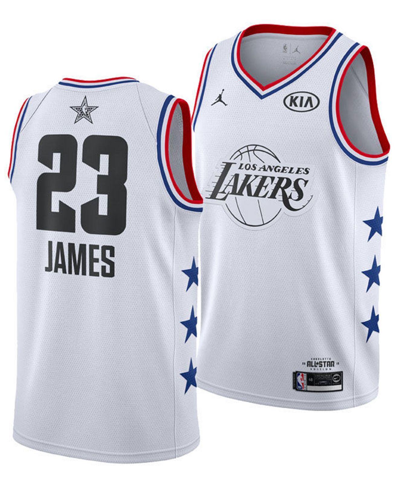 46a269aee Nike. Men s White Lebron James Los Angeles Lakers All-star Swingman Jersey
