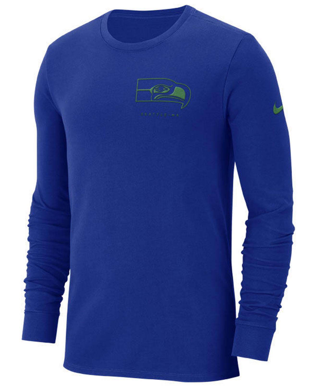 b46eaa217 Lyst - Nike Seattle Seahawks Heavyweight Seal Long Sleeve T-shirt in ...