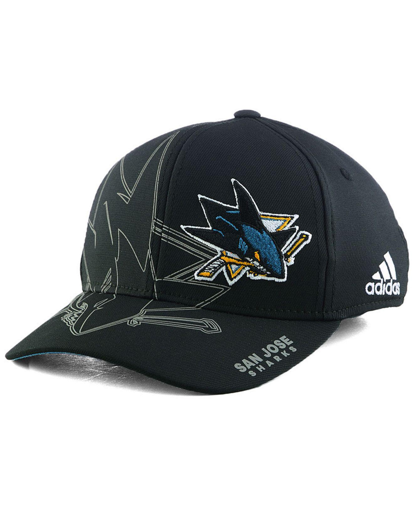 5953f7c8eafe8 Lyst - adidas San Jose Sharks 2nd Season Flex Cap in Black for Men