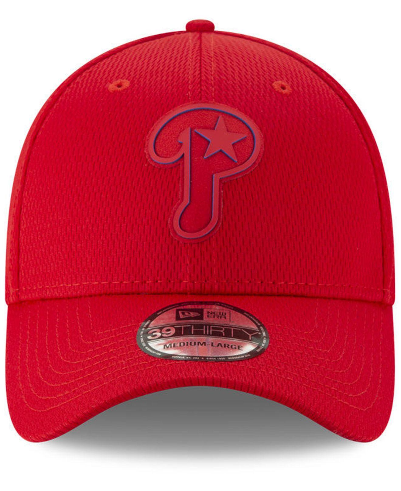 save off 1de64 b2408 Lyst - KTZ Philadelphia Phillies Clubhouse 39thirty Cap in Red for Men
