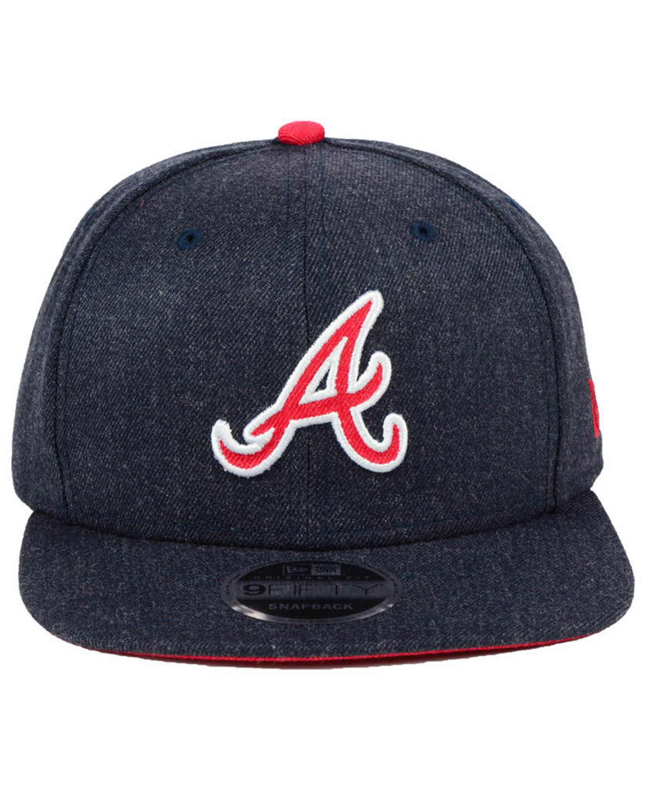 new product 5f4fd 73965 Lyst - KTZ Atlanta Braves Heather Hype 9fifty Snapback Cap in Blue ...