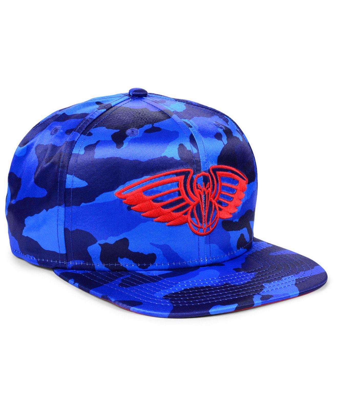the latest a2452 31798 KTZ - Blue New Orleans Pelicans Satin Camo 9fifty Cap for Men - Lyst. View  fullscreen