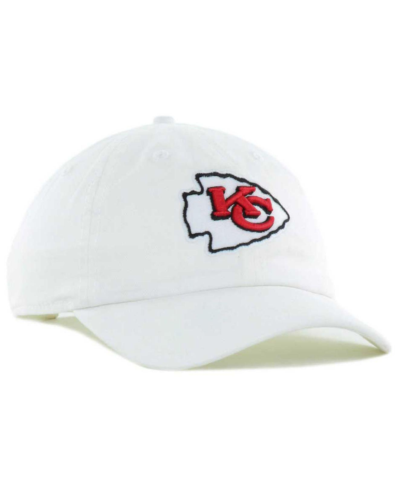 475c67120be ... adjustable hat 13077 090ef  sweden lyst 47 brand kansas city chiefs clean  up strapback cap in white 6ab8a a4bd3