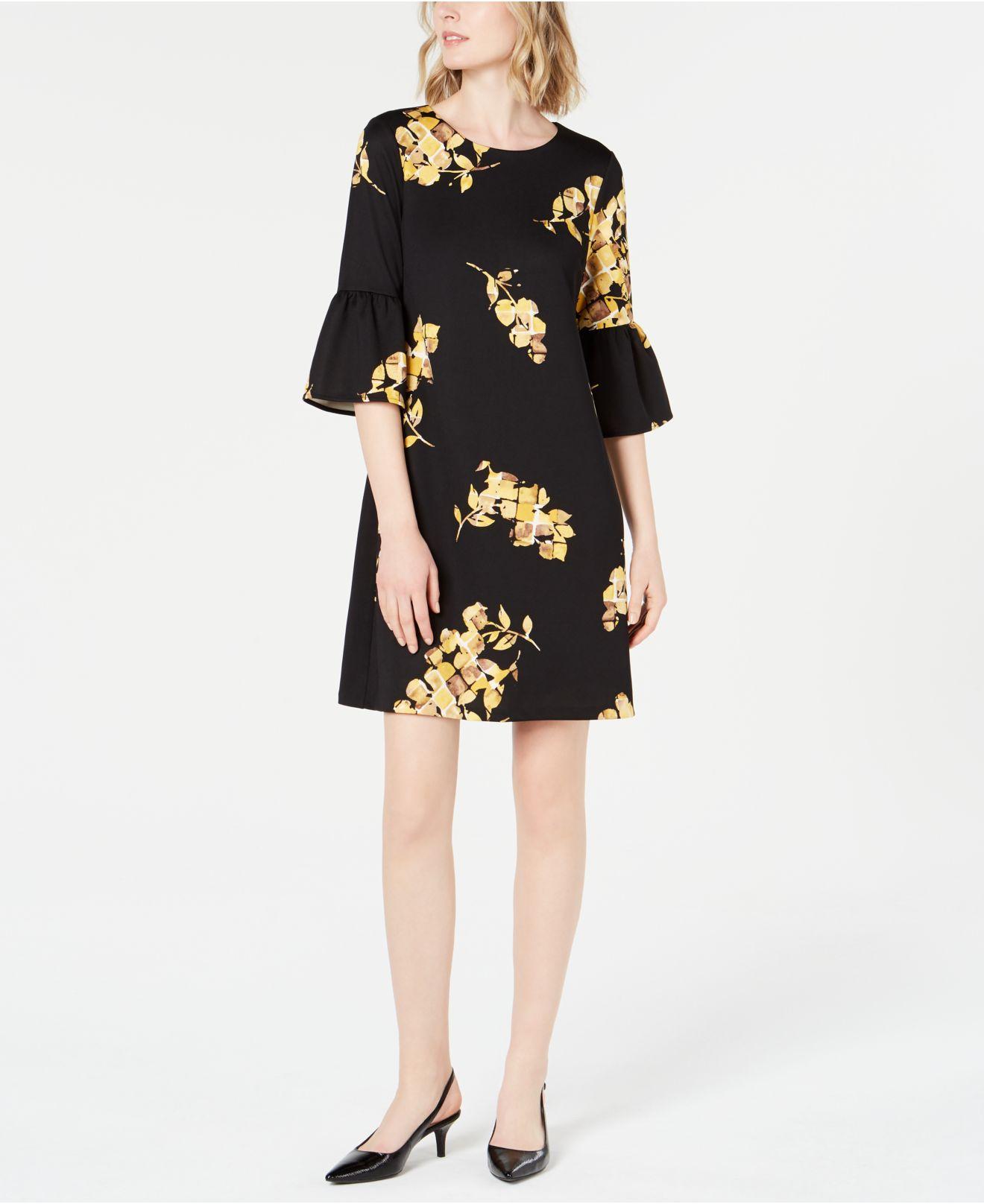 f1a6aac3561 Alfani Petite Scuba Bell-sleeve Dress