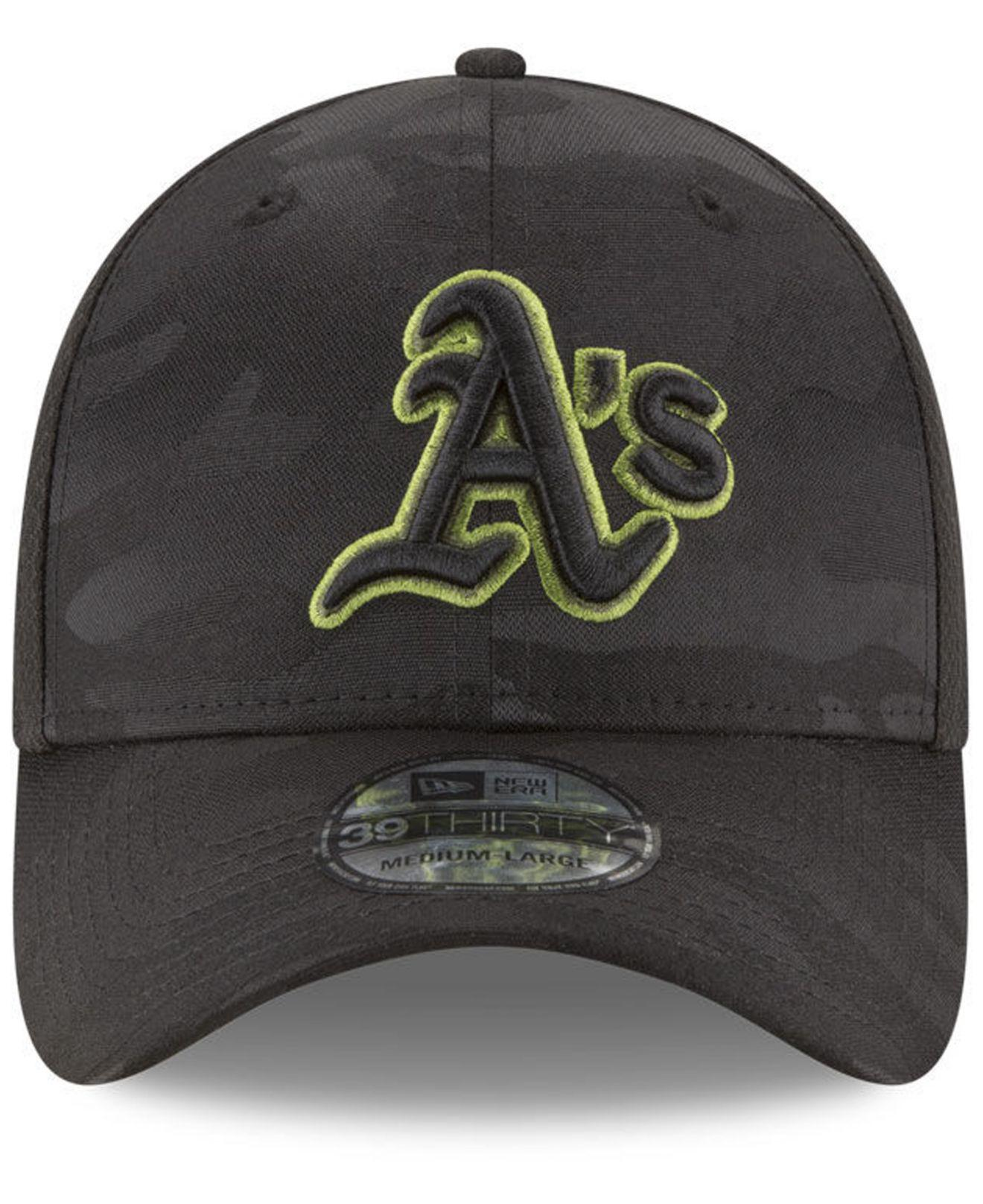 reputable site 60b0e 0cf83 ... inexpensive lyst ktz oakland athletics memorial day 39thirty cap in  black for men 1ff04 2990e