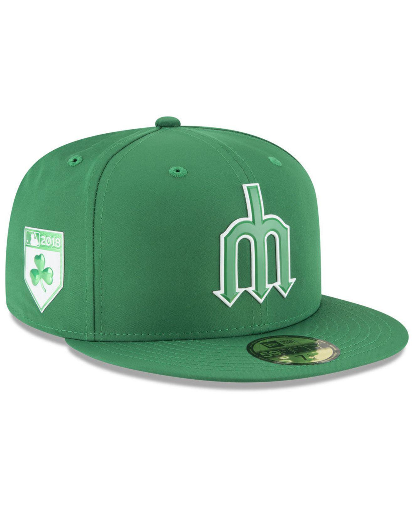 Lyst - Ktz Seattle Mariners St. Patty s Day Pro Light 59fifty Fitted ... e038f91cb423