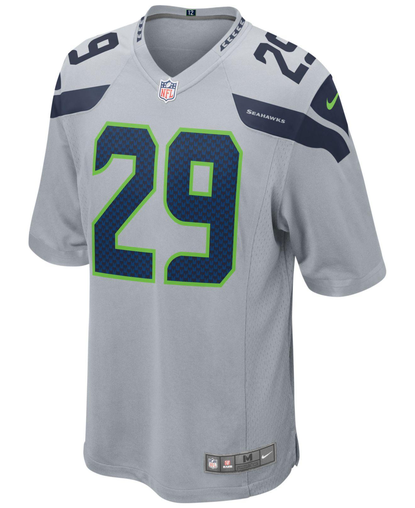 Lyst - Nike Men s Earl Thomas Seattle Seahawks Game Jersey in Green for Men 742f597cf