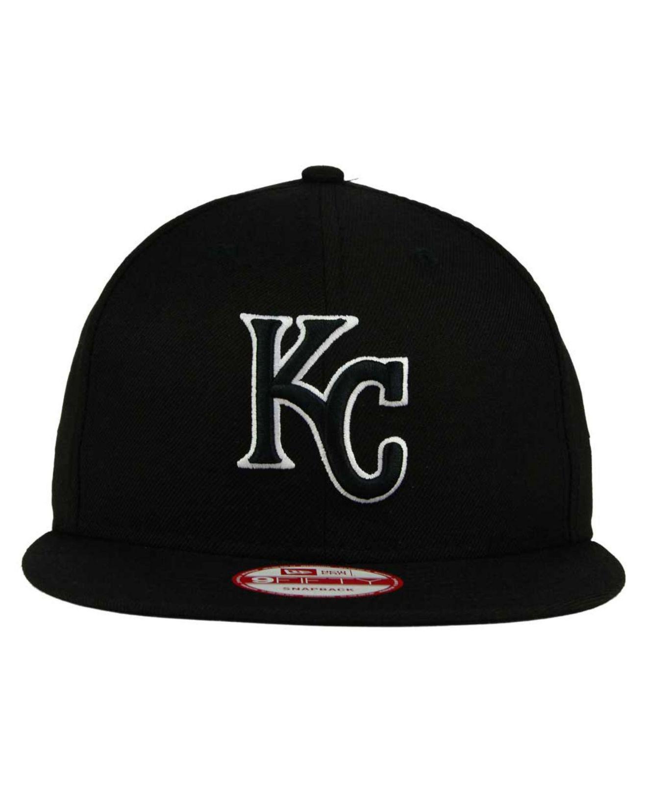 best loved 20cdd d5490 KTZ Kansas City Royals Black White 9fifty Snapback Cap in Black for Men -  Lyst