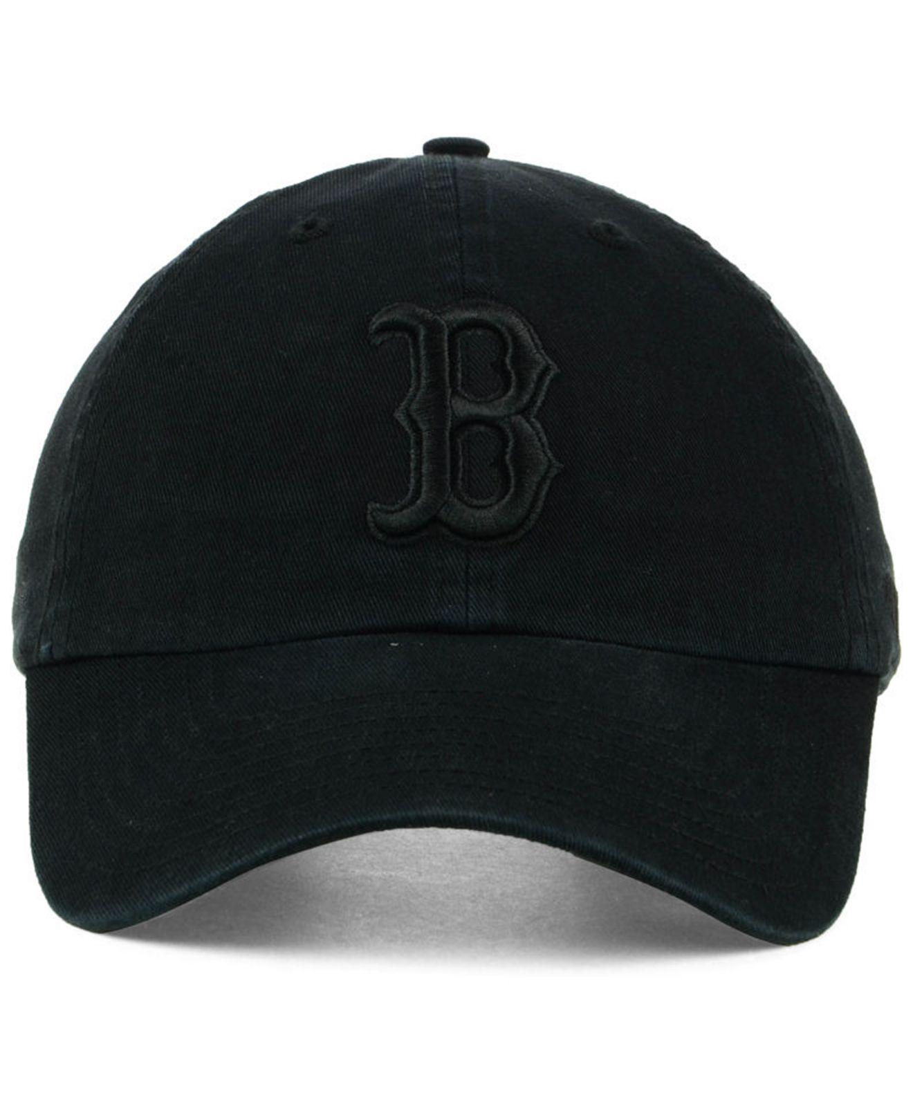 release date: b54c0 b93ca ... spain lyst 47 brand boston red sox black on black clean up cap in black  for