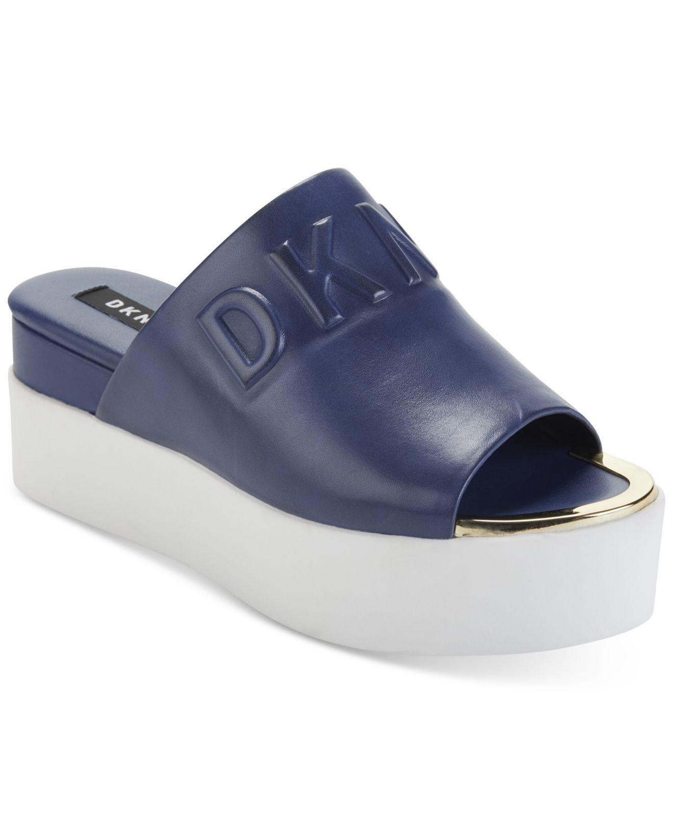 11d2c3259ce DKNY. Women s Blue Covo Platform Slide Sandals ...