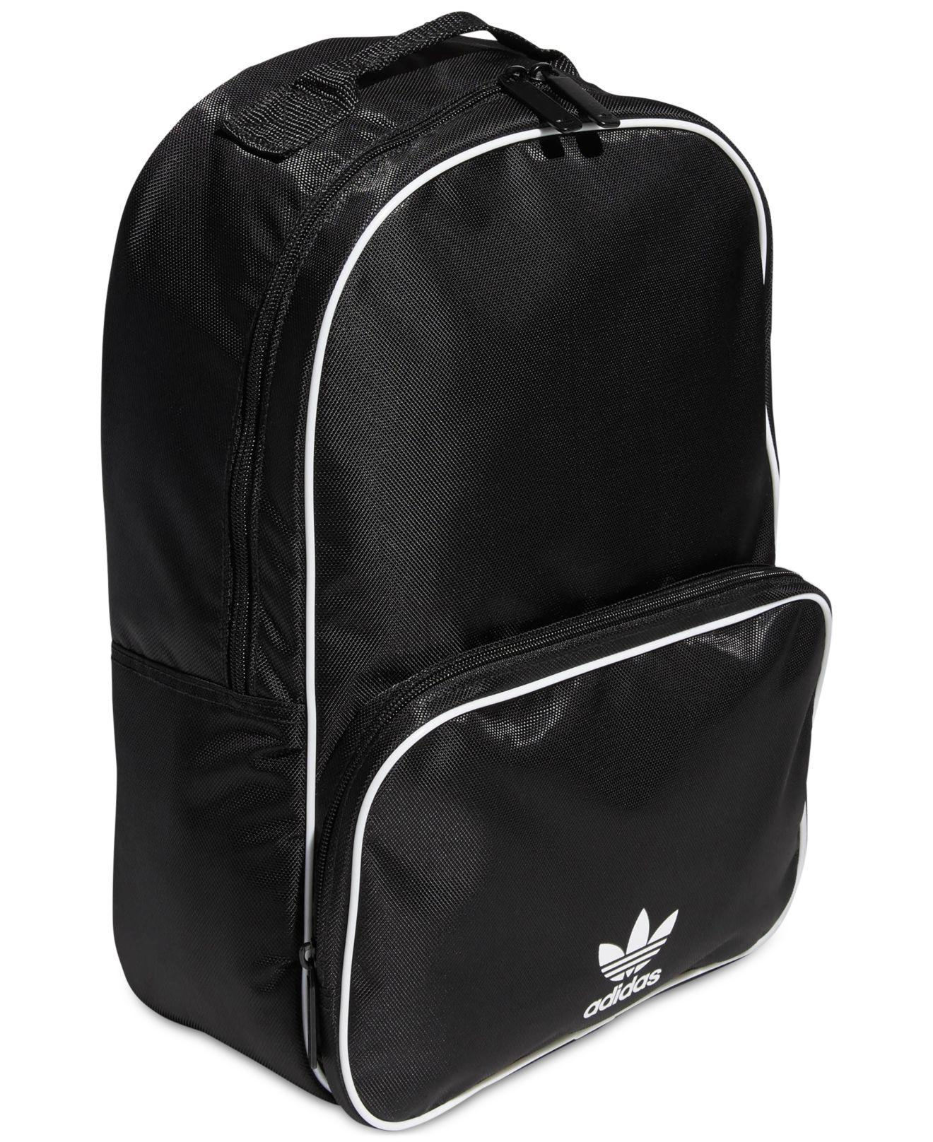 4b592c2b2f Adidas Originals Santiago Backpack in Black - Lyst