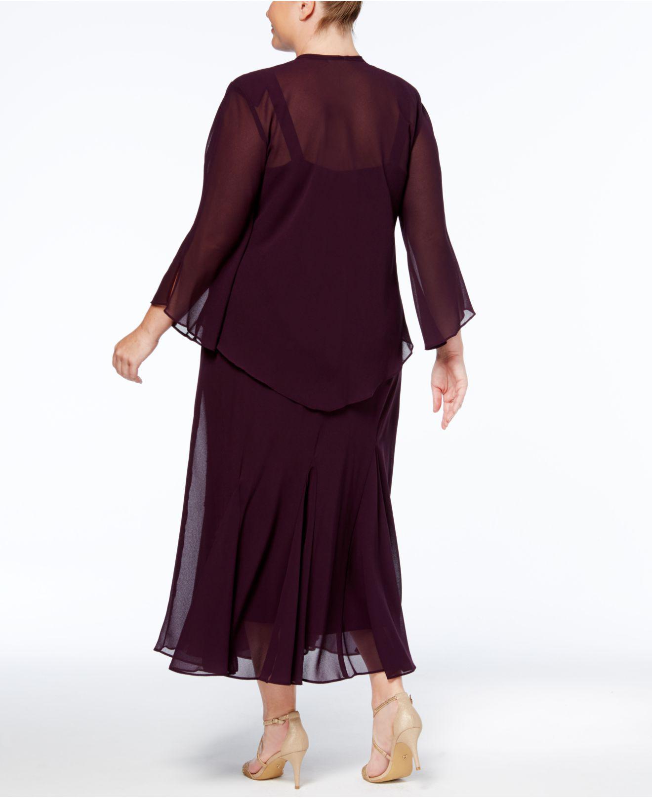 Lyst - R & M Richards Plus Size Beaded V-neck Dress And Jacket