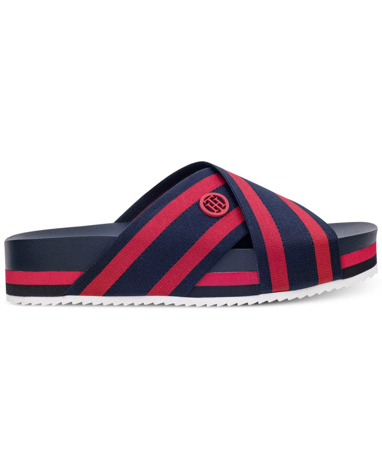 c86e9ec8fd5aa Lyst - Tommy Hilfiger Blysse Flatform Sandals in Blue