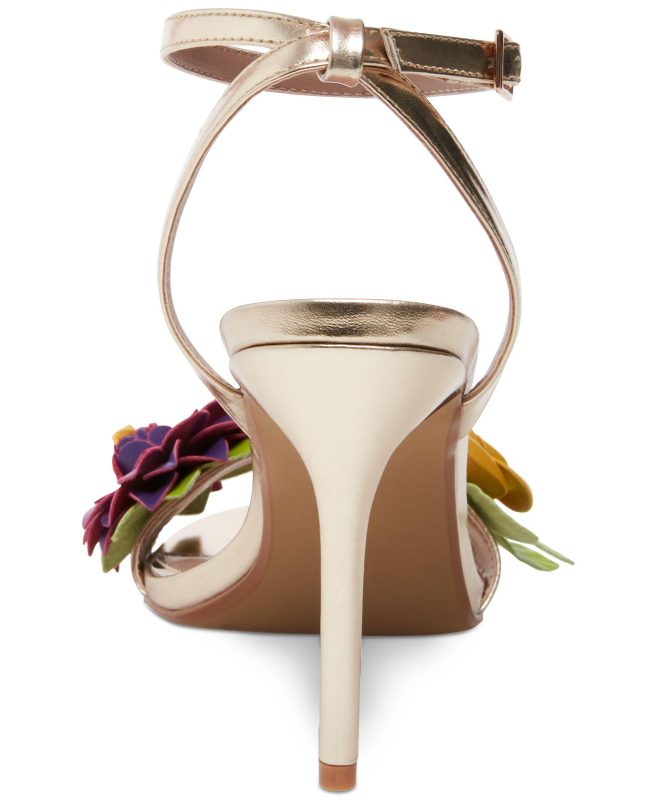 ef8fe2d3c51 Lyst - Betsey Johnson Fluer Dress Sandals in Metallic