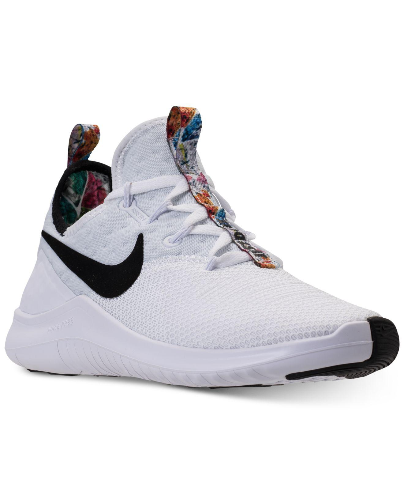Nike. Men's White Free Tr 8 Print Training Sneakers From Finish Line
