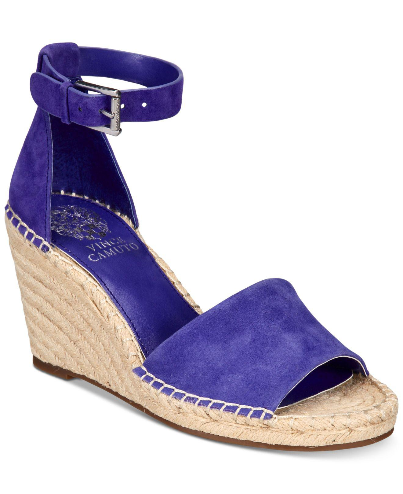 cc40808f351 Lyst - Vince Camuto Leera Espadrille Wedge Sandals in Purple