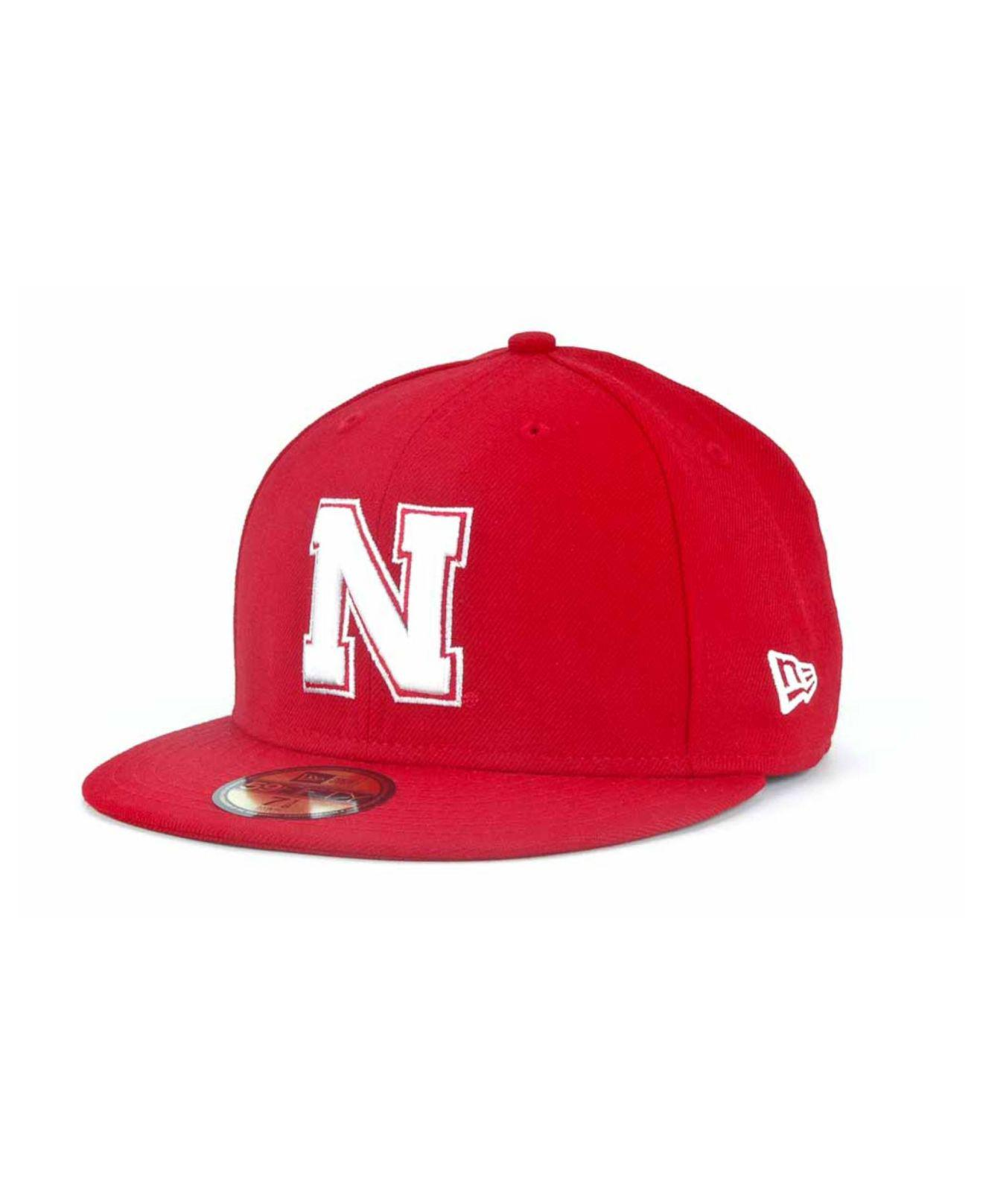 free shipping 44739 3872f KTZ. Men s Red Nebraska Cornhuskers 59fifty Cap