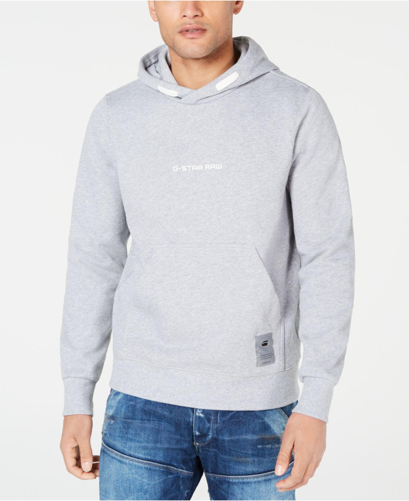 82bda28150d Lyst - G-Star Raw Logo Hoodie, Created For Macy's in Gray for Men