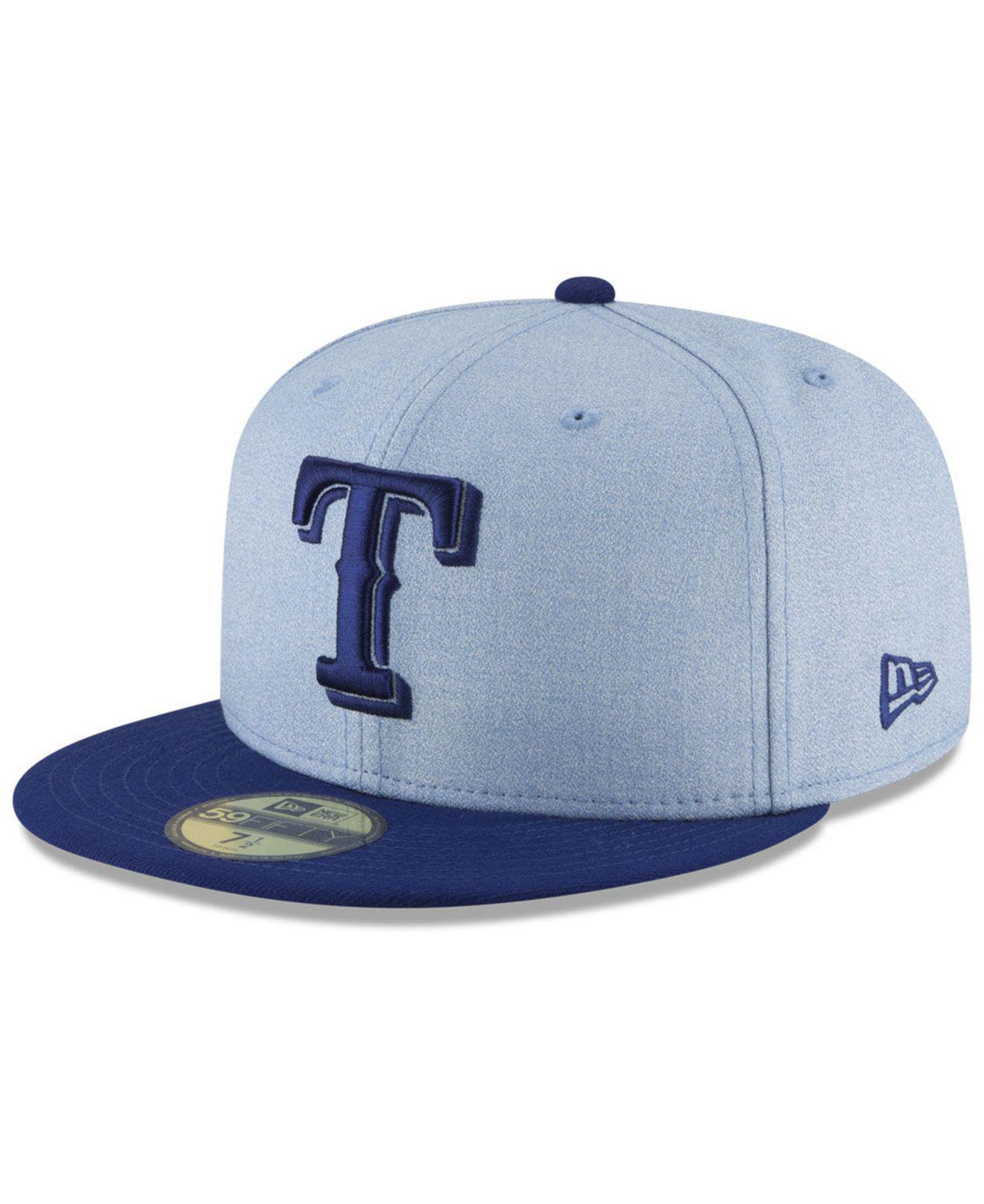 timeless design 3c984 09713 ... inexpensive ktz. mens blue texas rangers fathers day 59fifty fitted cap  2018 039bb be773