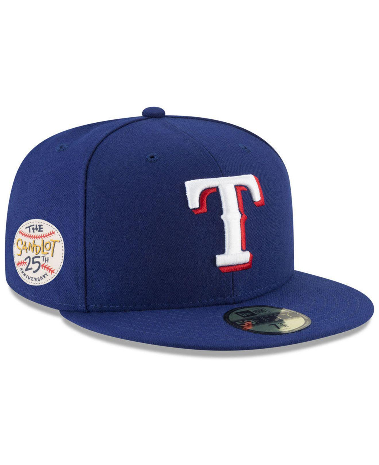 quality design 23072 bdf96 ... store lyst ktz texas rangers sandlot patch 59fifty fitted cap in blue  db529 f146c