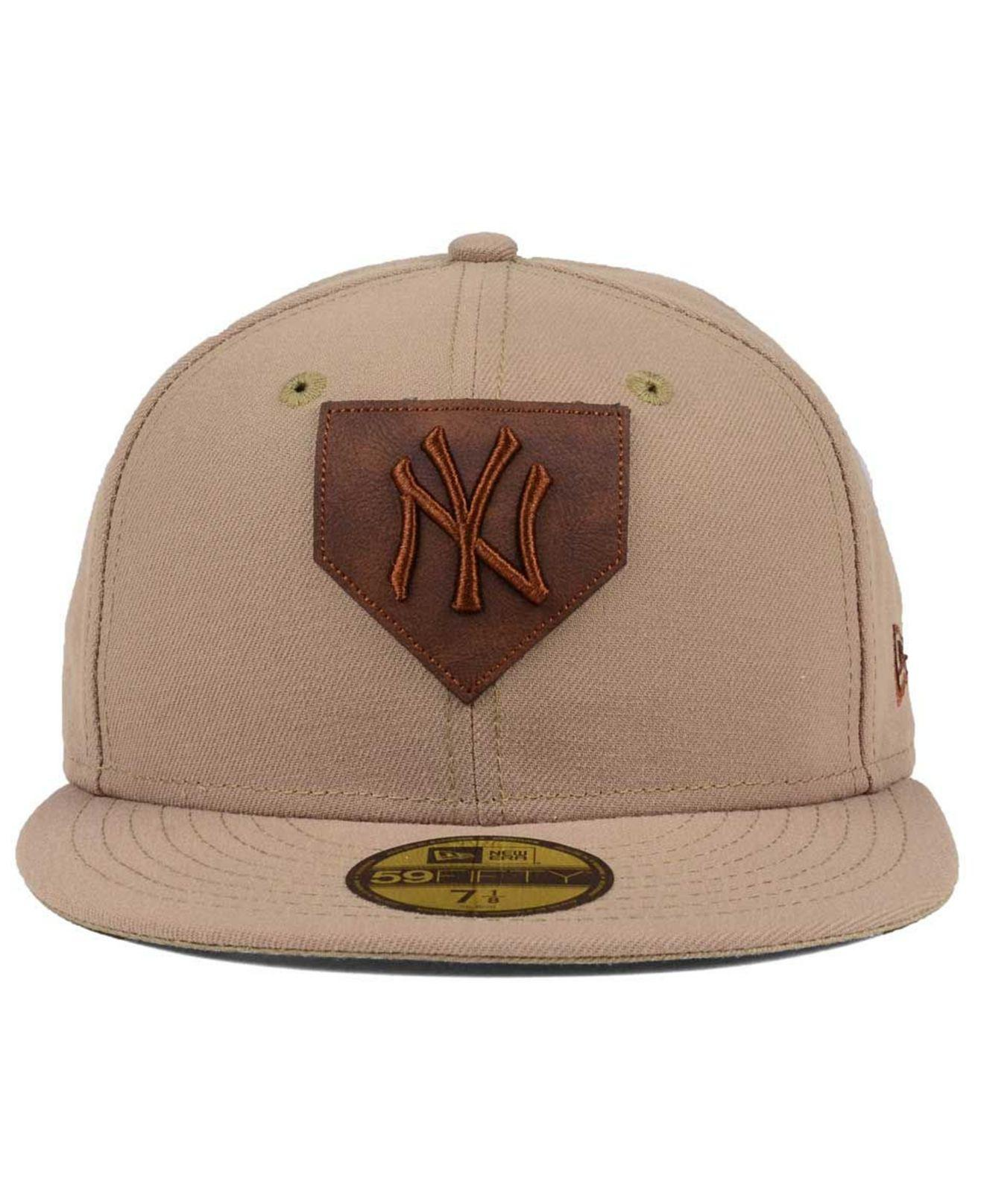 buy online 4f981 d47cf Lyst - KTZ The Logo Of Leather 59fifty Fitted Cap in Brown for Men