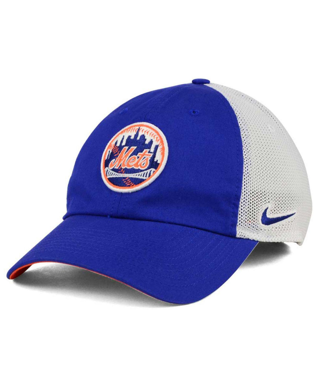 f93559ab Nike New York Mets Dri-fit Mesh Swoosh Adjustable Cap in Blue for ...