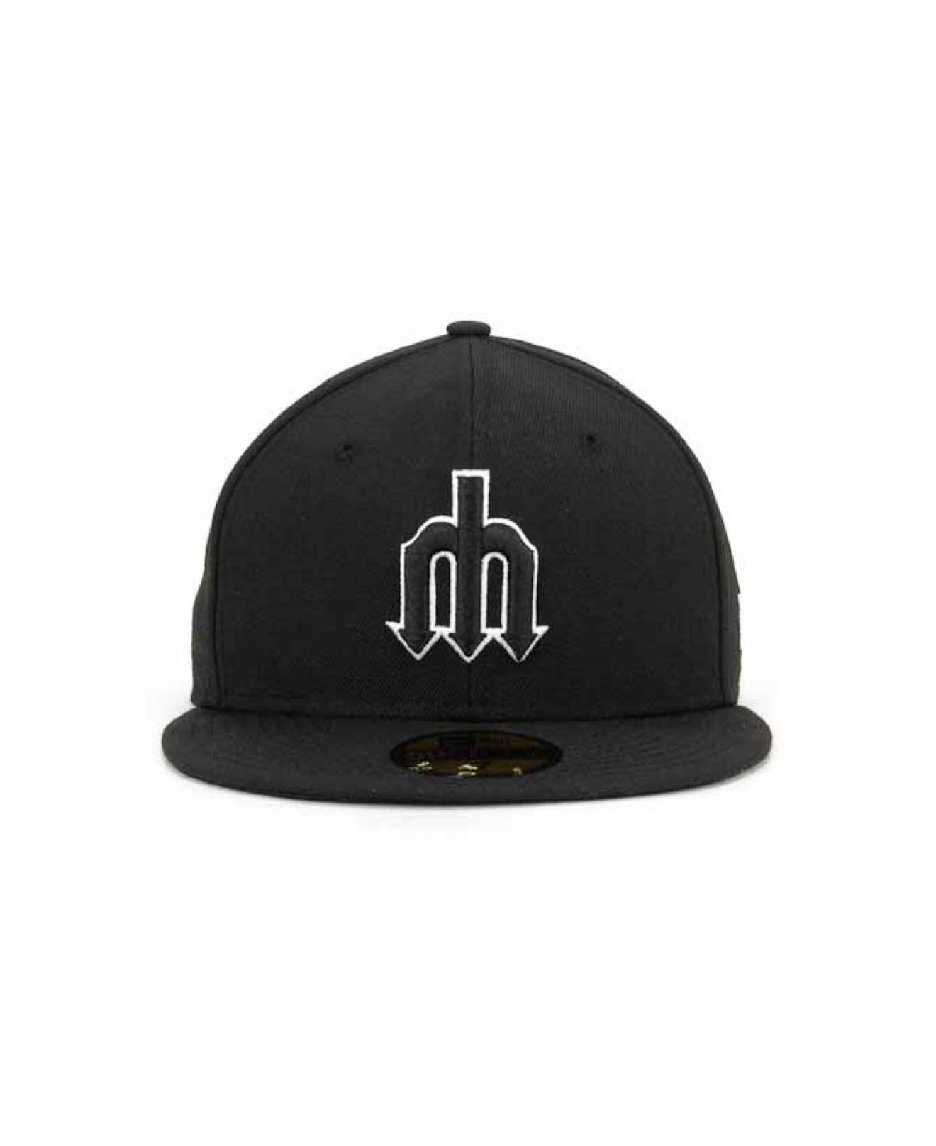 Lyst - KTZ Seattle Mariners Black And White Fashion 59fifty Cap in Black  for Men 9f7e3ffa89cc