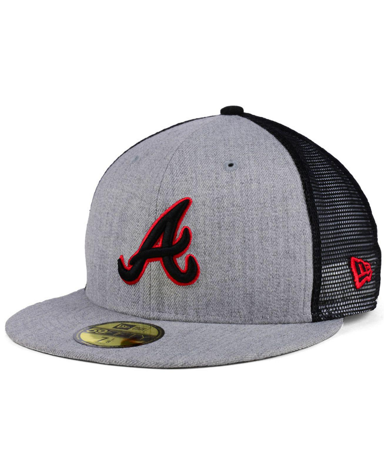9f403604d14 amazon lyst ktz atlanta braves new school mesh 59fifty fitted cap for men  d61b0 53e0f