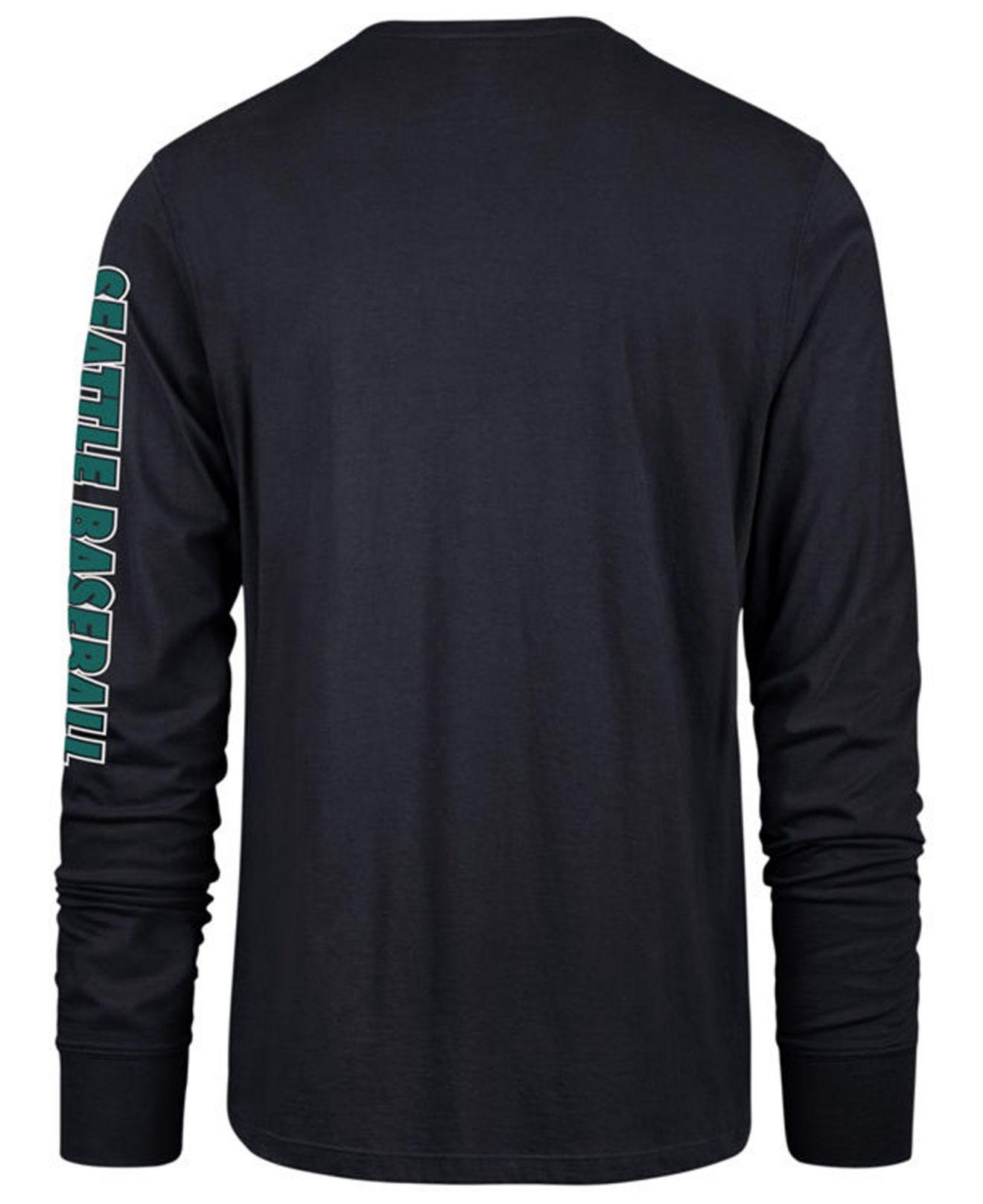 free shipping 6a74a 96bec Lyst - 47 Brand Seattle Mariners Rival Local Long Sleeve T-shirt in Blue  for Men