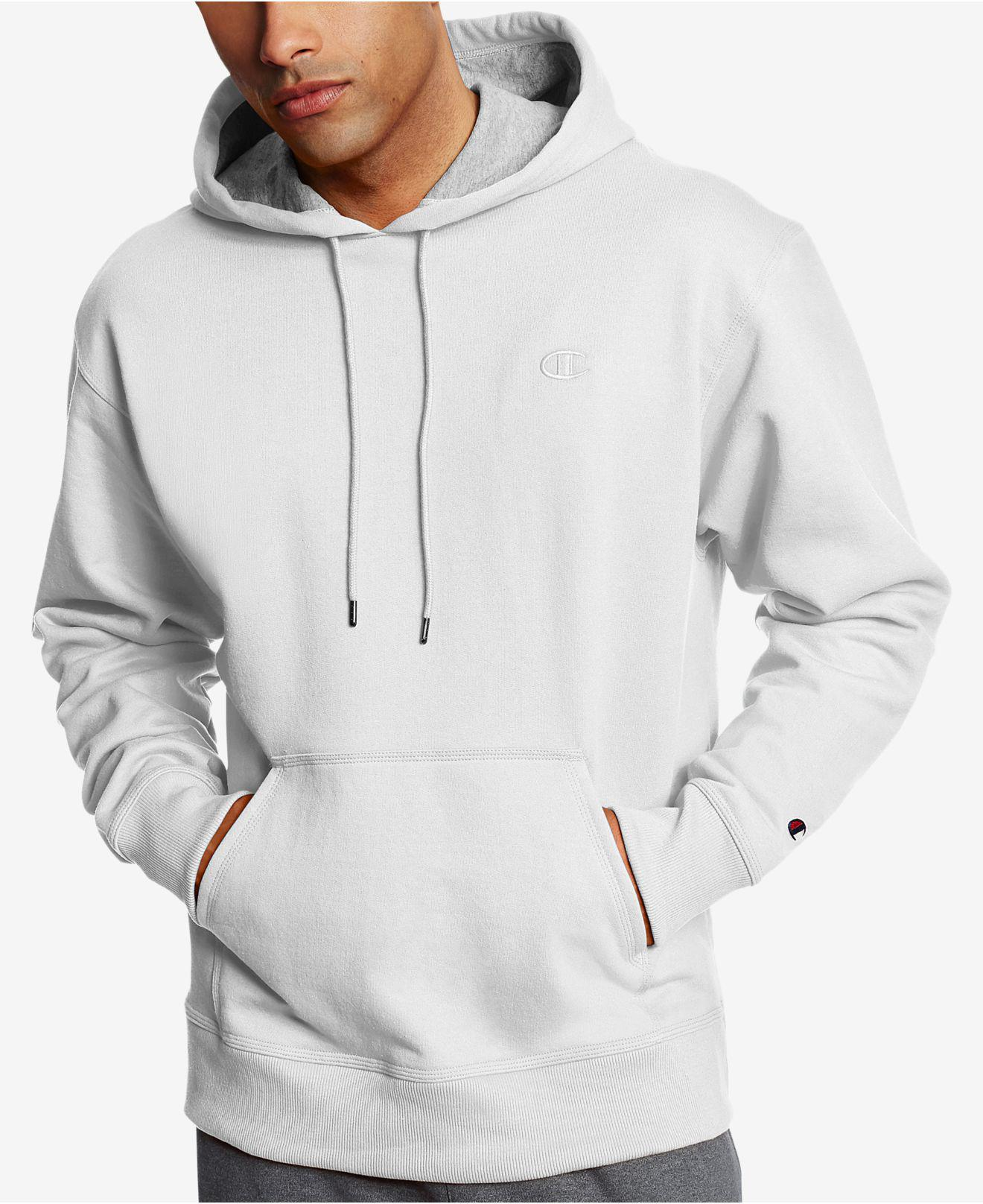 6232c6c39047 Lyst - Champion Men s Powerblend Fleece Hoodie in White for Men