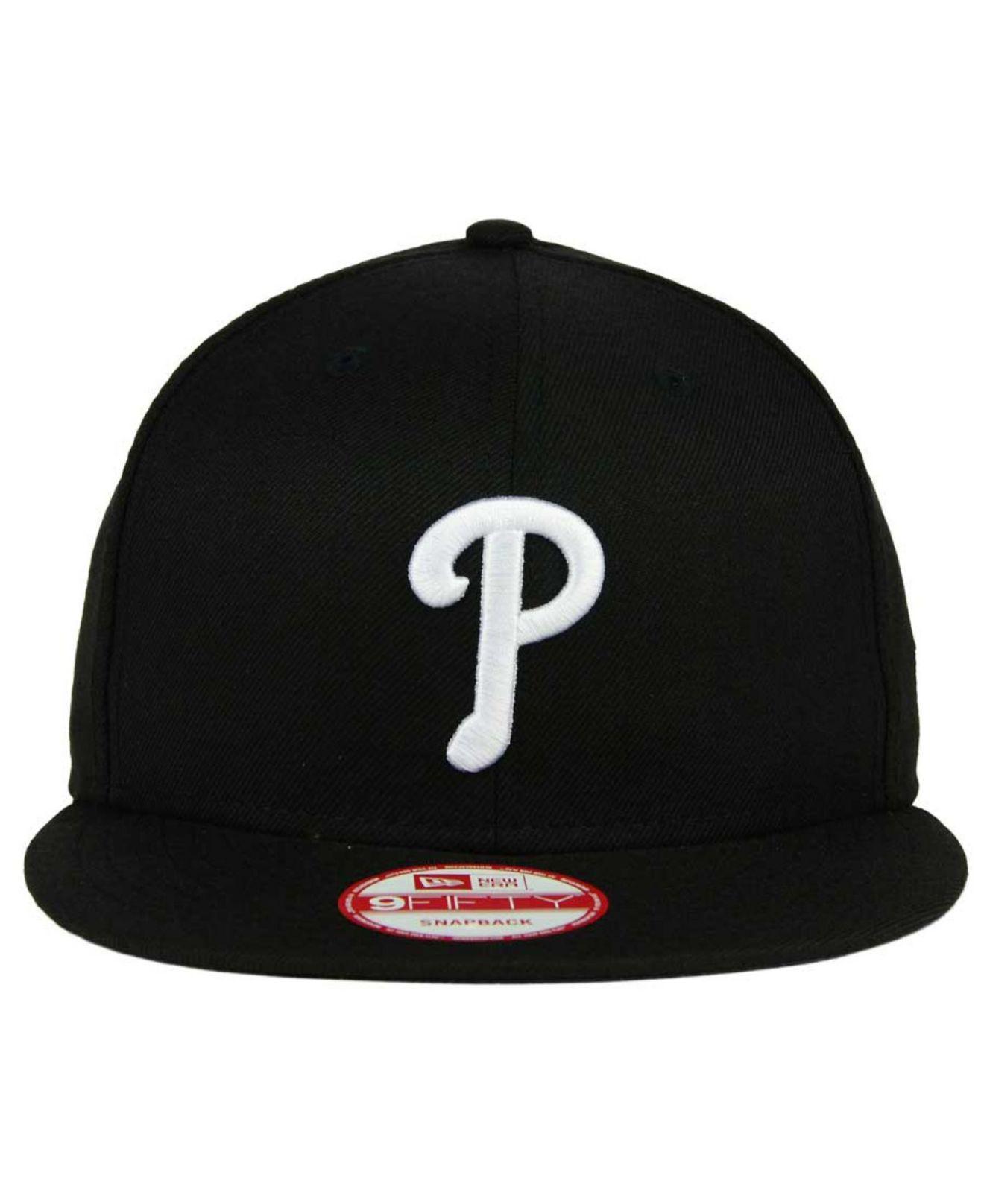 f141a54099b8d Lyst - KTZ Philadelphia Phillies B-dub 9fifty Snapback Cap in Black for Men