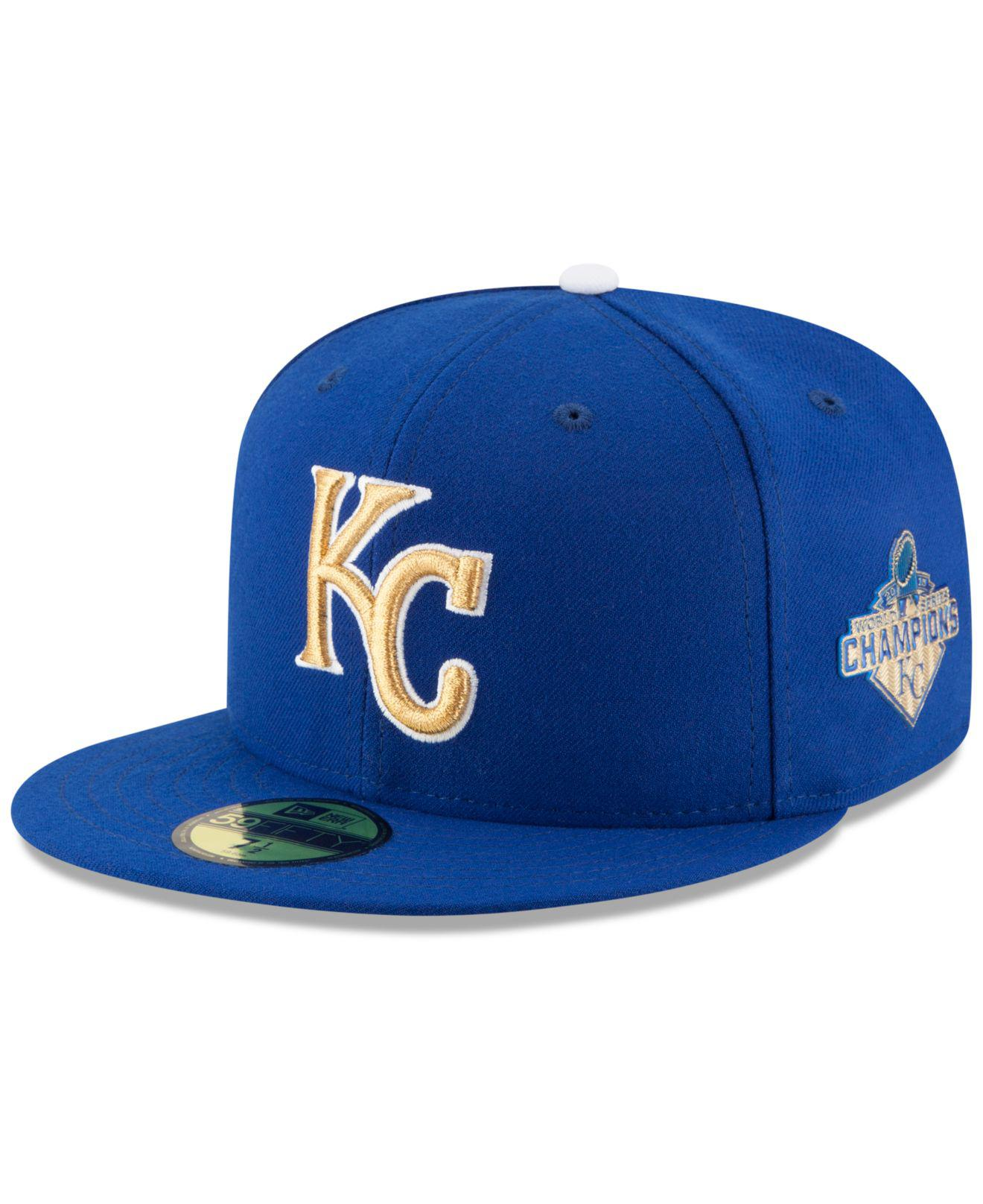 d1daecddbed Lyst - KTZ Kansas City Royals 2015 World Series Commemorative Gold ...