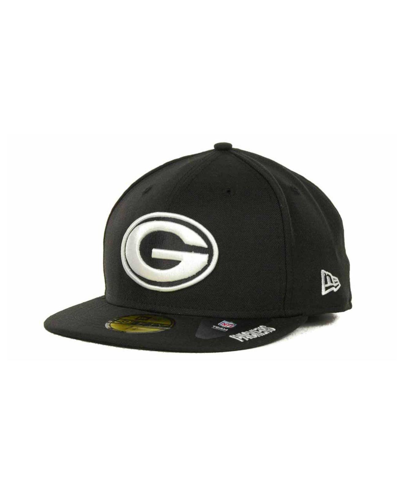 d22f51335 Lyst - Ktz Green Bay Packers 59fifty Cap in Black for Men